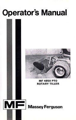 Massey Ferguson Mf 4850 Mf4850 Pto Rotary Tiller Operators Manual