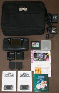 Sega Game Gear w/Case, Game & Accessories - Game Gear Games