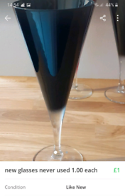 Wine glasses like new