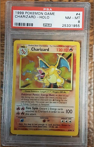 1999 PSA 8 Base Set Charizard