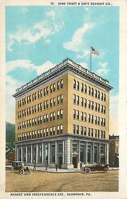 Shamokin Pennsylvania Market   Independence Streets Dime Trust Safe Deposit 1915