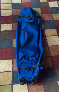Broadstone 10x10 outdoor folding tent bag on wheels