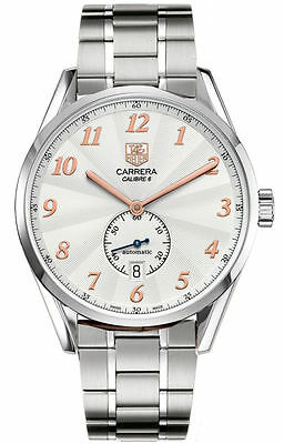 ORIGINAL  TAG HEUER CARRERA HERITAGE WAS2112 AUTOMATIC CALIBRE 6 ROSE GOLD WATCH