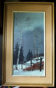 "Snowy Forest Landscape by Hilkka Pellikka ""The Evening Storm"" Stratford Kitchener Area image 1"
