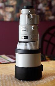 Lentille Canon 200-400mm avec extender 1,4X intégré (un bijoux!)