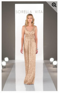 Sorella Vita Gold Sequin Dress Size 22
