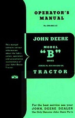 John Deere B Series Operators Instruction Manual B201