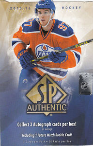 Série de cartes de hockey 2015-16 SP Authentic -  100 cartes