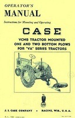 Case Vcmb 1 2 Bottom Plows Va Series Operators Manual