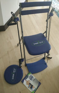 Chair gym with twister and guide, excellent condition