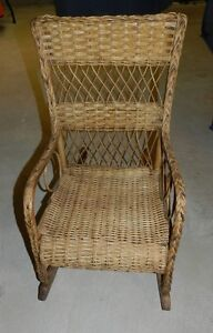 Antique whicker rocking chair