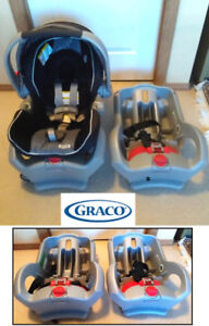 Clean! 3-pc GRACO Baby Car Seat, comes with 2 (TWO) Car Bases!