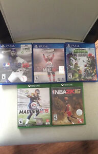 3 PS4 games and 2 Xbox one games