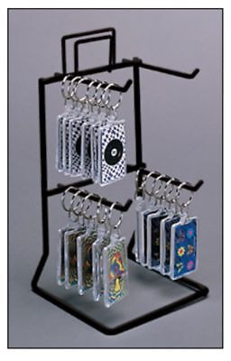 10 Counter Peg Display Rack - 2 Tier 4 Pegs Choice Of Color