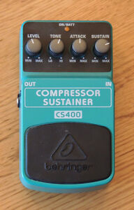 Behringer CS400 Compressor/Sustainer Pedal for Guitar or Bass.