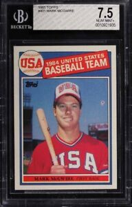 MARK MCGWIRE ... 1985 Topps - ONLY ROOKIE CARD - BGS 7.5 & PSA 8