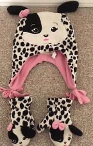Toddler Dalmation Toque & Mitts sz Lg (2-4yrs)