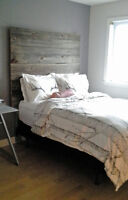HEAD BOARD- made from Exclusive barn wood- NEGOCIABLE