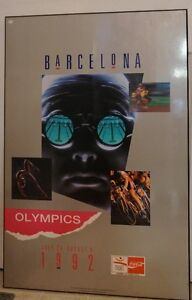 1992 Coca-Cola Olympics Plaq Mounted Poster 24 by 36 inches
