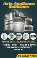 Aziz Appliance Repairs and Installations