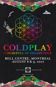 Coldplay Centre Bell 9 Août / August 9