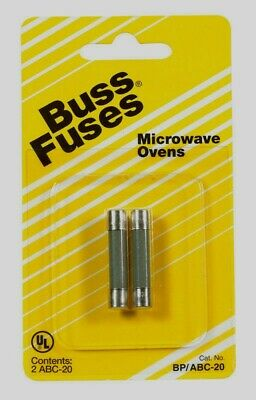Bussmann Buss Abc Microwave Oven Fuse 20 Amp 250v 2 Pk Ceramic Bpabc-20 New