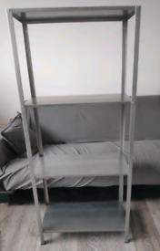 Metal long shelves