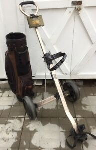 Cadie Titanium golf cart & Spalding gof bag