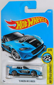 Hot Wheels 1/64 '15 Mazda MX-5 Miata Diecast Car