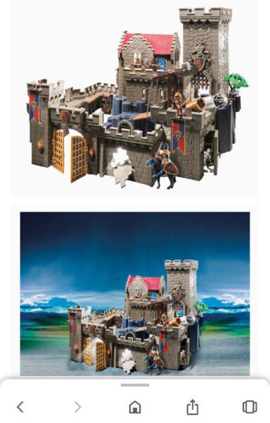 Playmobil royal lion knight's castle building set