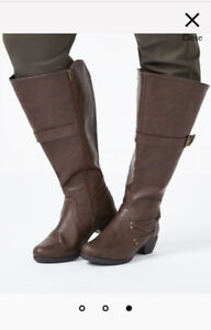 Ladies Extra Wide Calf size 9 Brown Boots