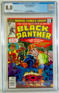 Black Panther #1 CGC 8.0 1977 Jack Kirby & Mike Royer White Page