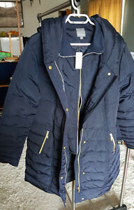 2 Dark Blue Coats with Hoodies (XL and XXL)