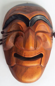 Handcrafted Carved Tribal Wood Mask 9 x 6 x 2.5 Wall Mount