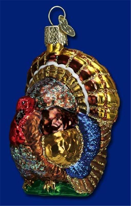 TOM TURKEY OLD WORLD CHRISTMAS FALL GLASS THANKSGIVING BIRD ORNAMENT NWT 16015