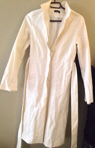 White/Cream Kookai belted trench coat size 38/M (lined) NEW