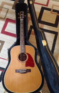 ACOUSTIC GUITAR IBANEZ WITH HARD SHELL CASE