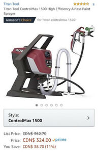 Titan Tool ControlMax 1500 High Efficiency Airless Paint Sprayer