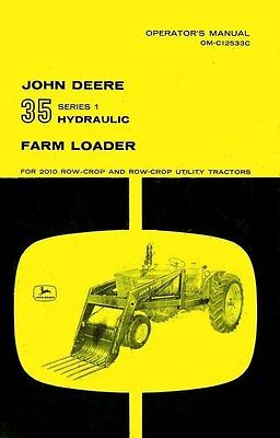 John Deere 35 2010 Hydraulic Loader Operators Manual