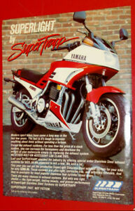 1987 SUPERTRAPP BIKE EXHAUST AD WITH YAMAHA FJ1200 MOTORCYCLE