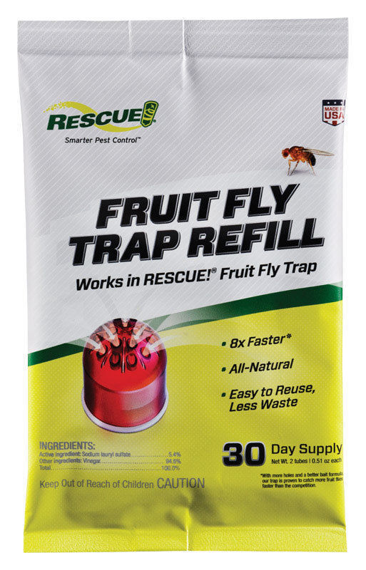 RESCUE Fruit Fly Trap Refill 1 pk of 2 Tubes Made in USA Animal & Rodent Control