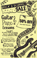 50% off the first month of Guitar Lessons!