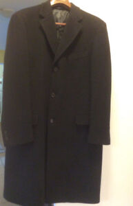 New TED LAPIDUS Wool/Cashmere Men's Black long Winter Coat