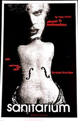 Sanitarium  - SURREALIST IMAGE. - Austin. -Original poster JAGMO PUNK NEW/WAVE
