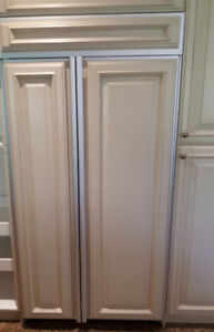 Sub zero Frigidaire built in fridge freezer