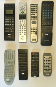 TV, AUDIO & VIDEO REMOTES - Sony, JVC, Panasonic, Toshiba, Dell