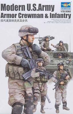 NEW Trumpeter 1/35 US Modern Army Crewmen & Infantry Figure 00424