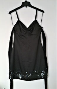 GUESS JEANS LITTLE BLACK SEXY DRESS WITH BEADED HEM, SZ.3 (S)NEW