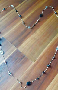 Black, Dark Green and Clear Beaded Wrap Necklace!!!!