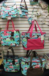HAPPY CAMPER BAGS, PURSES ,TOTES AND COOLERS
